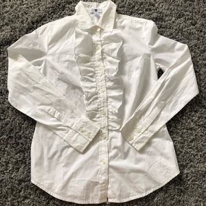 GAP Women's Button Down with ruffles size Medium